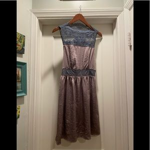 Free People Lace Detailed Silky Dress size Medium
